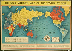 The Star Weekly's Map of the World At War. March, 1942.