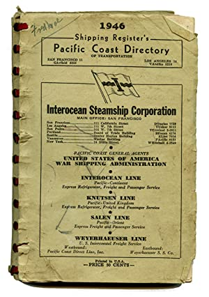 1946 Shipping Register's Pacific Coast Directory.