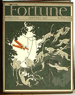 Fortune Magazine. 1931 - 01 TO 1931 - 03. BOUND VOLUME WITH COVERS.