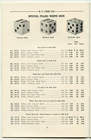 Gambling Catalogue and Brochures: K.C. Card Company and Mason & Co.