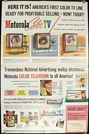 Now Motorola TV presents America's First Practical Color Television with Giant 205 Sq. In. Pictur...