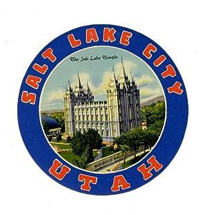 Salt Lake City Utah. LUGGAGE LABEL.: UTAH - SALT