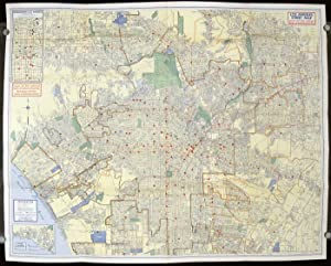 Indexed Los Angeles Street Map Showing House Numbers and Transportation Lines and Locations of Ba...