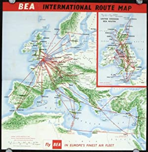 BEA Route Map of Europe