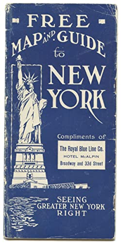 Free Map and Guide to New York Compliments of The Royal Blue Line Co.
