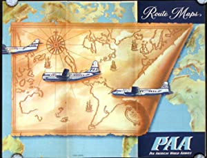Route Maps PAA Pan American World Airways.