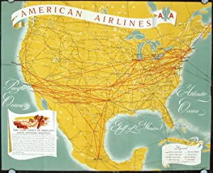 American Airlines International System Map.
