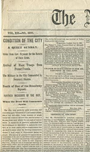 The New York Times. Monday, July 20, 1863.
