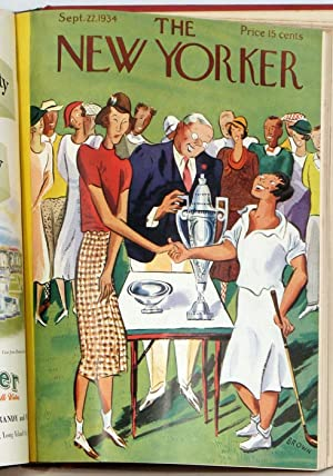 The New Yorker. 17 issues from 1934.: AMERICA'S CUP etc.)