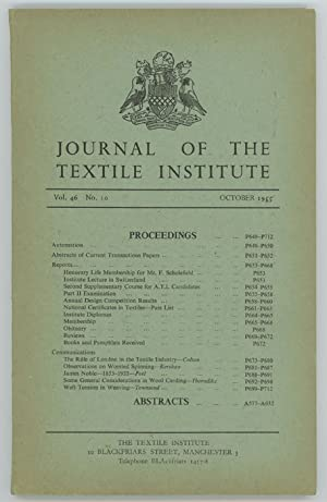 Journal of the Textile Institute.