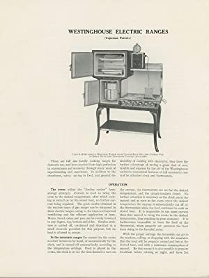Westinghouse Electric Ranges.