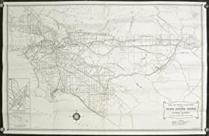 A Map of the Pacific Electric Lines. Map title: Rail and Motor Coach Lines of the Pacific Electri...