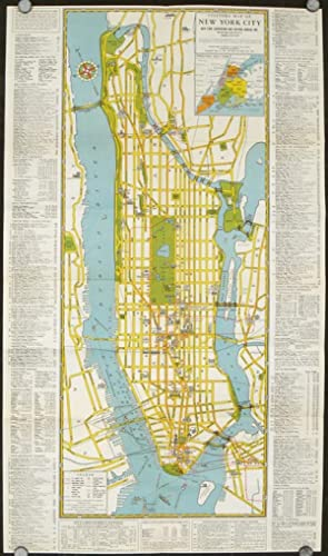 Visitors Guide to New York. The Greatest All Year Round Vacation City. Map title: Visitors Map of...