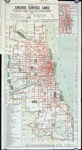 Seeing Greater Chicago by the Chicago Surface Lines. A Sightseeing and Route Guide. (Map title: S...
