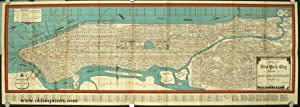 Map & Guide New York City Showing Ferries, House Numbers, Hotels, Steamship Lines and Piers, Subw...