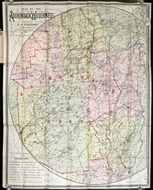 Map of the Adirondacks. (Map title: Map of the Adirondack Wilderness).