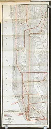 New York City subways, Hudson tunnels, elevated, surface and omnibus lines, taxicabs, railway sta...