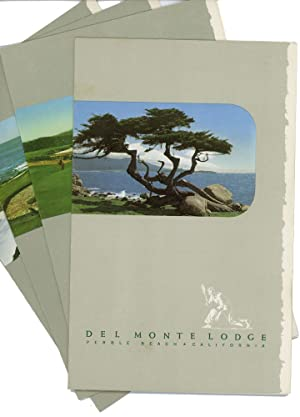 Del Monte Lodge Pebble Beach California (Four Menus).