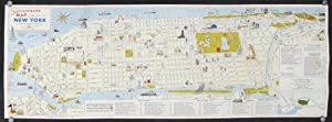 Illustrated Map of the City of New York in Full Color.