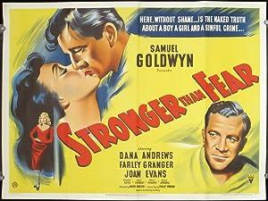 Stronger Than Fear. (Movie Poster - Titled: FILM NOIR)