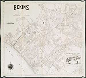 Bekins Van and Storage Company Map of Beverly Hills, Westwood, Santa Monica, West Los Angeles, We...