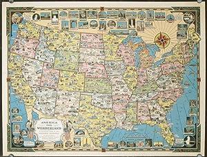 Entdecken Sie Sammlungen von Pictorial Maps (United States): Kunst ...