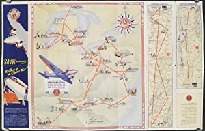 Souvenir Maps. Pennsylvania - Central Airlines.