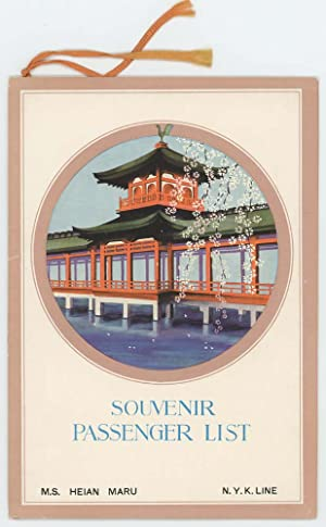 Souvenir Passenger List. Dollar Steamship Line. Orient - Round the World.