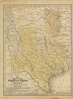 Map of the State of Texas Engraved to Illustrate Mitchell's School and Family Geography. No. 13.