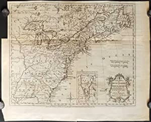 A New Map of the British Dominions in North America; with the Limits of the Governments annexed t...