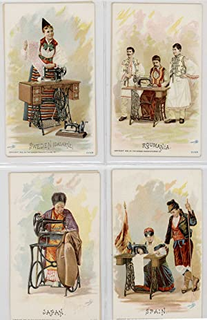 Set of 33 Singer Manufacturing Co. Trade Cards.