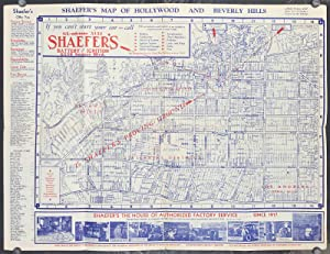 Map Of California Hollywood.Shaefer S Map Of Hollywood And Beverly Hills De California