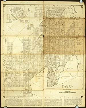 Map of The City of Tampa Florida and Vicinity. Map title: Tampa Florida.