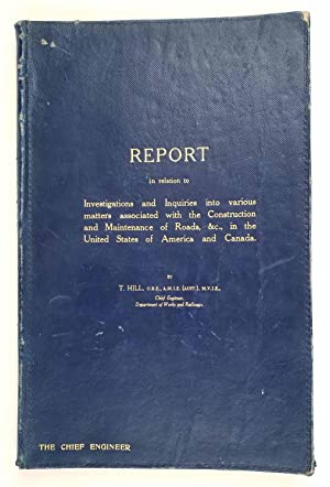 Report in relation to Investigations and Inquiries into various matters associated with the Const...