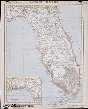 Eastern United States [Florida]. Lett's Popular Atlas No. 10.