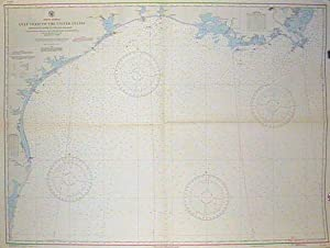Lot of two coastal charts of the Gulf Coast of the United States . #1126 Mississippi River to the...