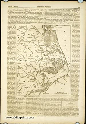 Map of North Carolina, Showing Fort Hatteras and the Sounds it Commands.