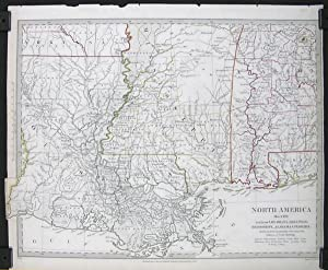 North America. Sheet XIII. Parts of Louisiana, Arkansas, Mississippi, Alabama & Florida.