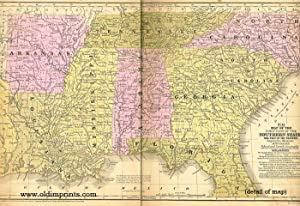 Map of the Chief Part of the Southern States and Part of the Western.