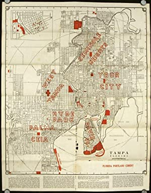 Official Map of the City of Tampa Florida and Vicinity.