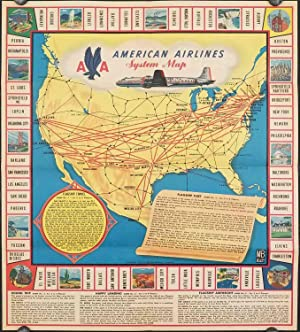 American Airlines System Map. (Cover title: How America's Leading Airline Operates.)