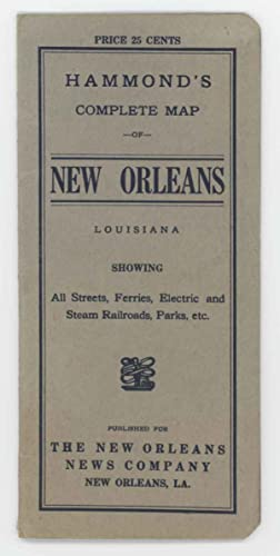 Hammond's Complete Map of New Orleans. Map title: New Orleans.