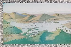Map and History of Lake George, N.Y. in the Adirondacks. (Map title: 32 Miles of Crystal Water Am...