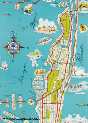 Miami Beach City Map. Map title: Street Map of Miami Beach.
