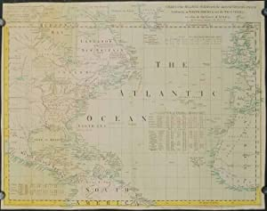 Chart of the Atlantic Ocean, with the British, French & Spanish Settlements in North America, and...