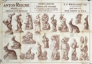 Anton Reiche Aktiengesellschaft Chocolate Moulds. Double Moulds for Chocolate Figures. T. C. Weyg...