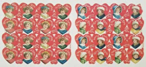 1920s Valentine die-cut uncut sheets. TEN SHEETS.