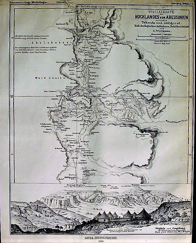 1868 Special Map of the Highlands of ...