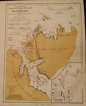 1864 Map of the Northeastern Part of Spitsbergen, Based on Accounts of the Swedish Expedition of ...