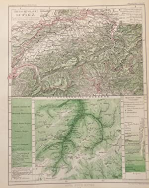 Two 1864 Maps of Switzerland